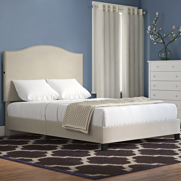 Bulpitt Camel Back Queen Upholstered Standard Bed by Charlton Home