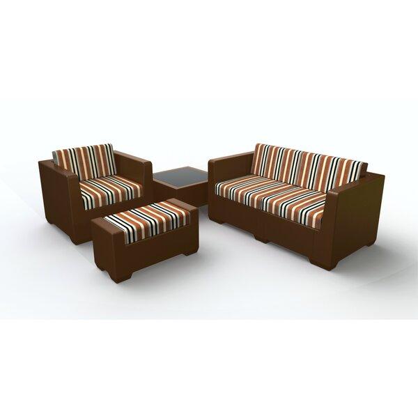 Sturtevant 4 Piece Sofa Set with Cushions by Red Barrel Studio