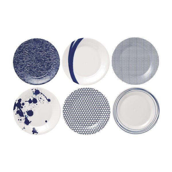 Pacific 9 Accent Plates (Set of 6) by Royal Doulton