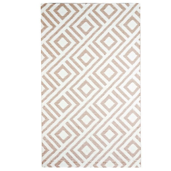 Malibu Reversible Design Beige/White Outdoor Area Rug by b.b.begonia