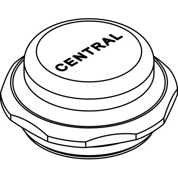 Brass Cap for Self-Closing by Central Brass