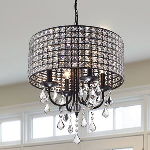 Albano 4-Light Crystal Chandelier