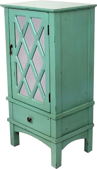 Larraine Wooden Accent Cabinet with Mirror Insert by August Grove