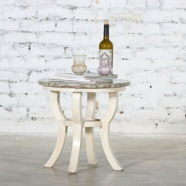 Vanessa Wooden Accent Stool by August Grove