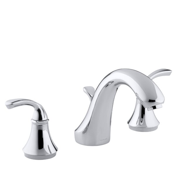 Forté Sculpted Deck-Mount Bath Faucet Trim for High-Flow Valve with Diverter Spout, Valve Not Included by Kohler
