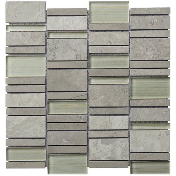 Random Sized Natural Stone Mosaic Tile in Gray by Intrend Tile