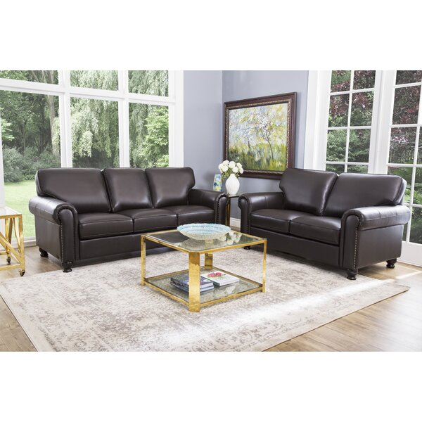 Coggins 2 Piece Leather Living Room Set by Darby Home Co
