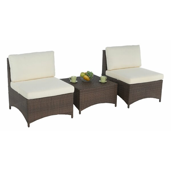 Cooperstown 3 Piece Seating Group with Cushions by Ebern Designs