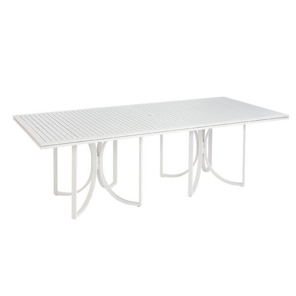 Dani Outdoor Empire Slat Top Rectangle Dining Table by Highland Dunes