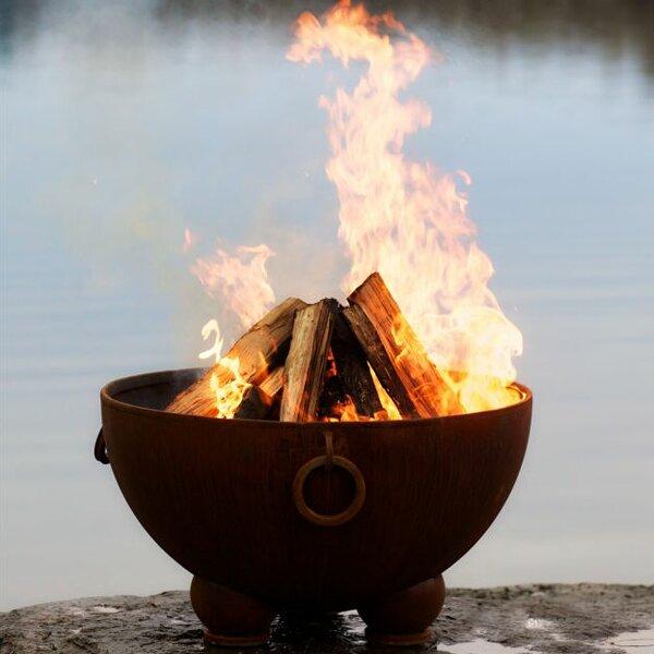 Nepal Steel Wood Burning Fire Pit by Fire Pit Art