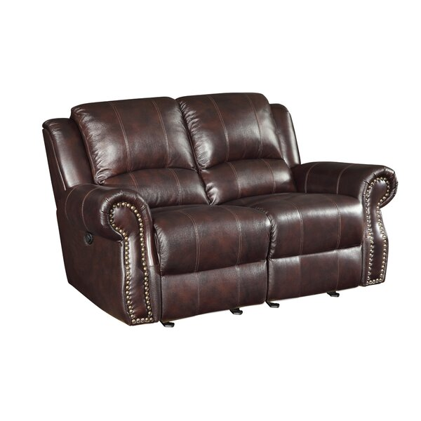 Leather Motion Reclining Loveseat by Wildon Home®