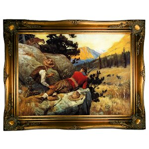 'Untitled The Hunt' Framed Graphic Art Print on Canvas by Loon Peak