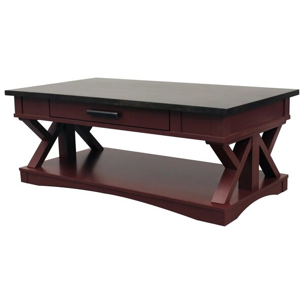 Cabral Trestle Coffee Table By Gracie Oaks