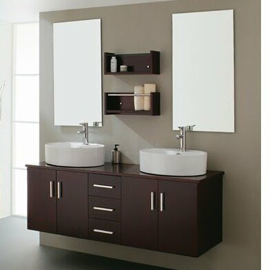 59 Double Bathroom Vanity Set with Mirror by Kokols