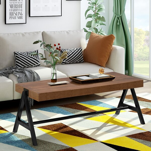 Mindy Trestle Coffee Table By Union Rustic