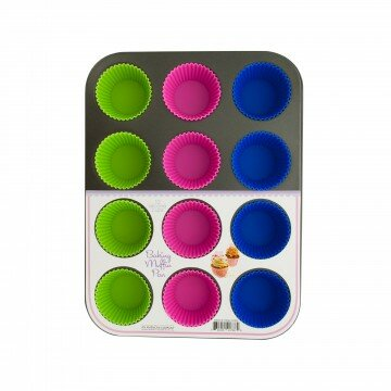 12-Cup Muffin Baking Pan by Kole Imports
