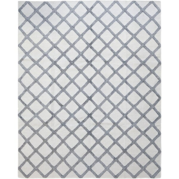 One-of-a-Kind Curtis Hand-Knotted Wool/Silk Gray Indoor Area Rug by Isabelline