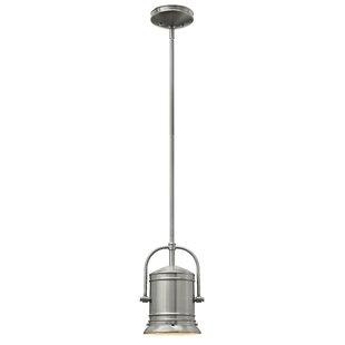 Price comparison Warfield 1-Light Bell Pendant By Breakwater Bay