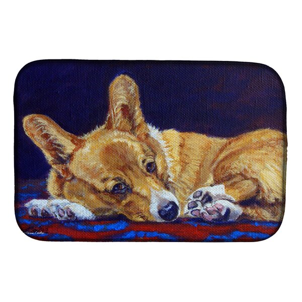 Corgi Lonesome Dish Drying Mat by Caroline's Treasures