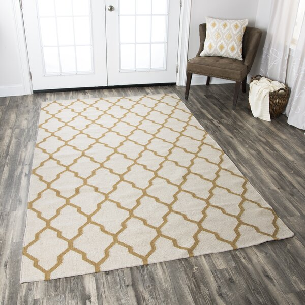 Kingsley Parchment & Gold Rug by Birch Lane™