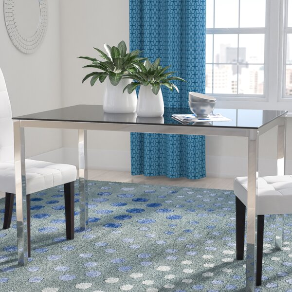 Heier Rectangle Dining Table by Wade Logan