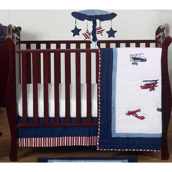 Vintage Aviator 4 Piece Crib Bedding Set by Sweet Jojo Designs