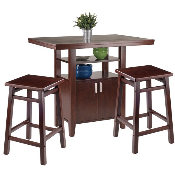 Tawanna 3 Piece Pub Table Set by Charlton Home