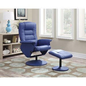 Able Manual Rocker Recliner with Ottoman by A&J Homes Studio