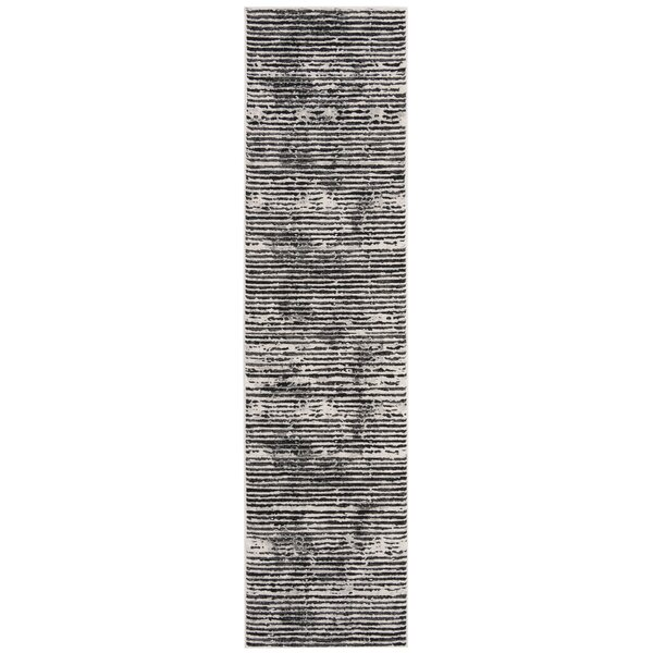 Fowler Black/Gray Area Rug by Williston Forge