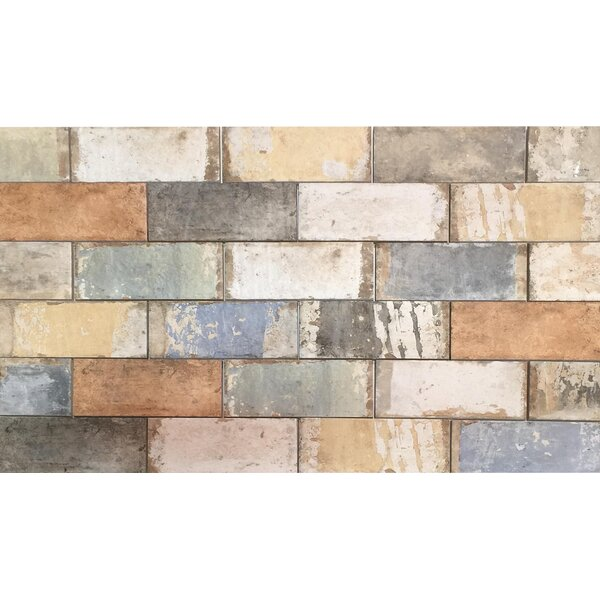 Havana 4 x 8 Porcelain Subway Tile in Blend by Tesoro