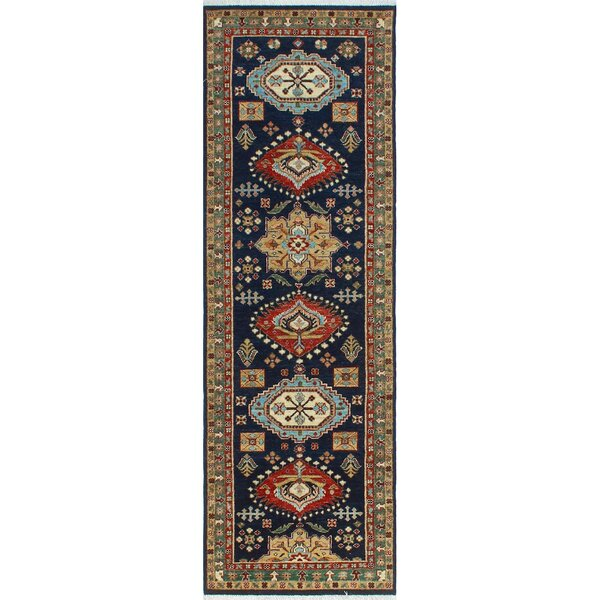 One-of-a-Kind Jacque Hand-Knotted Wool Blue/Beige Area Rug by Isabelline