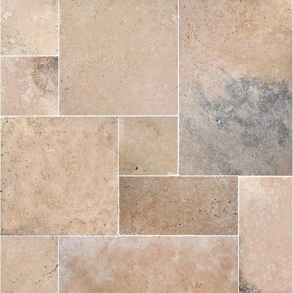 Anatolia Random Sized Travertine Field Tile in Beige by Parvatile