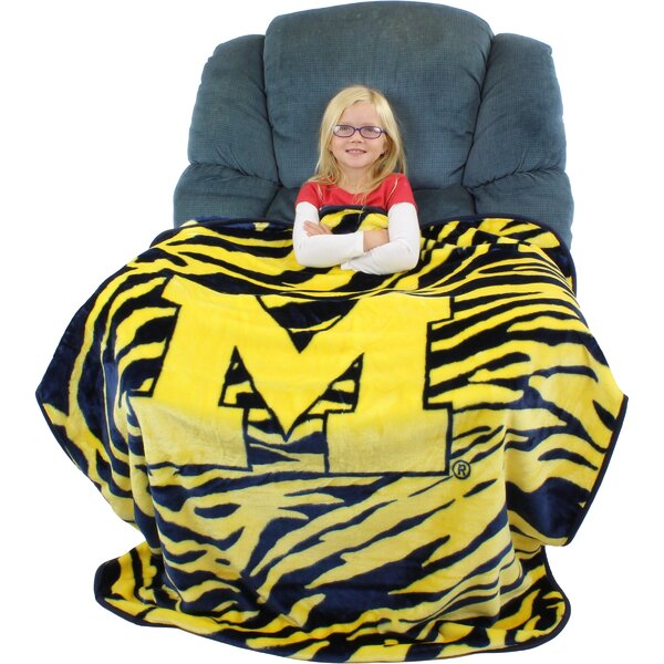 Michigan Wolverines Throw Blanket by College Covers