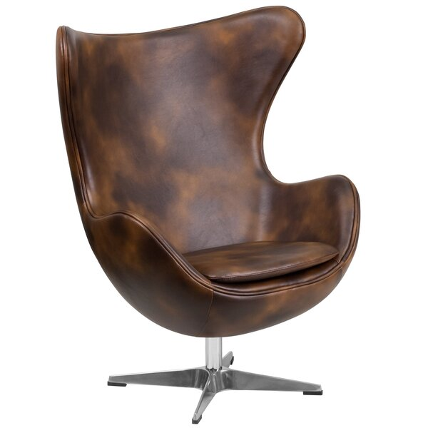 Ailbe Leather Balloon Chair by Trent Austin Design