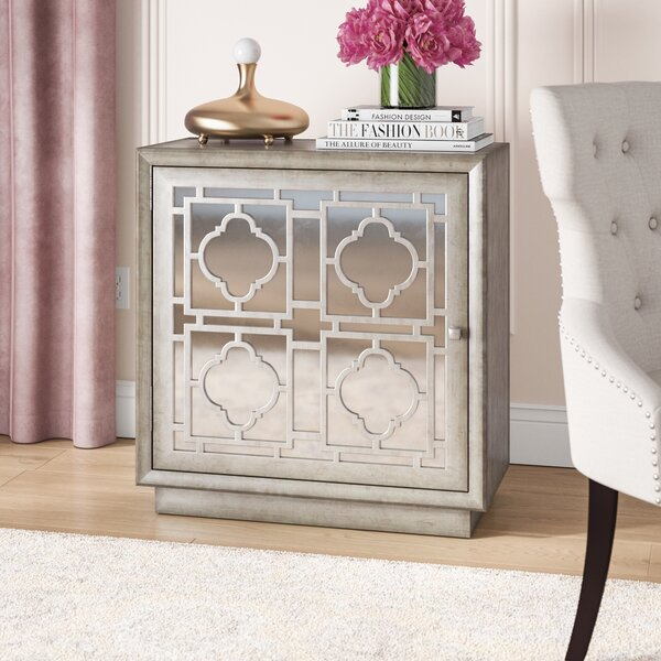 Brockley Mirrored Overlay 1 Door Accent Chest by House of Hampton