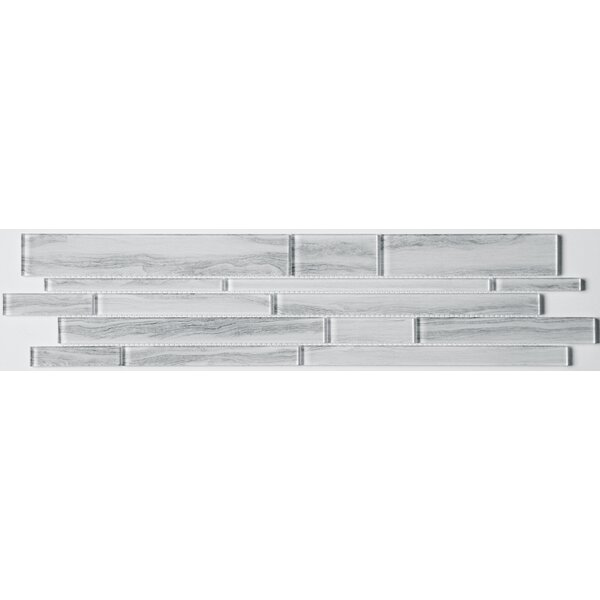 Zen Random Sized Glass Mosaic Tile in Calm by Emser Tile