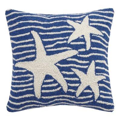Starfish Hook Wool Throw Pillow