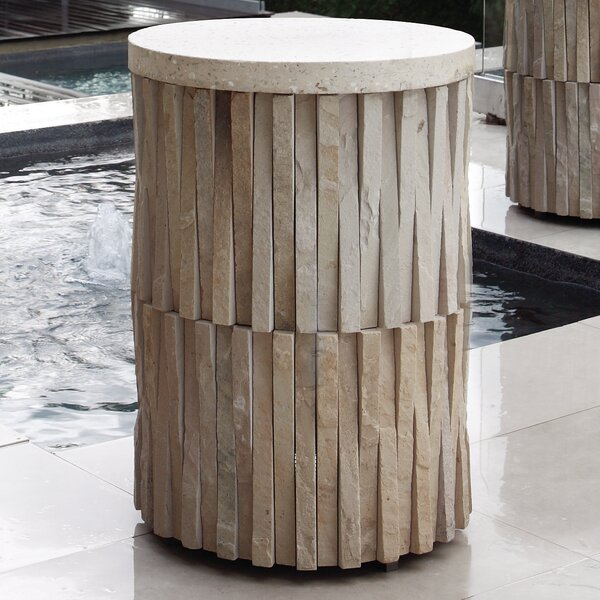 Round Stone/Concrete Side Table
