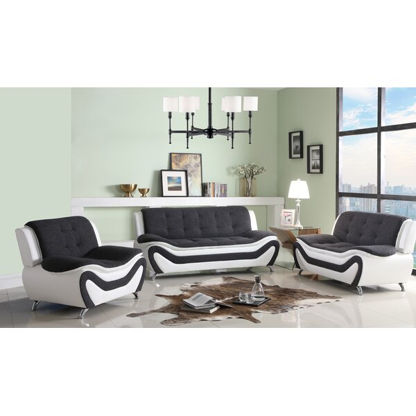 #1 Anouk Classical 3 Piece Conservatory Living Room Set By Orren Ellis 2019 Coupon