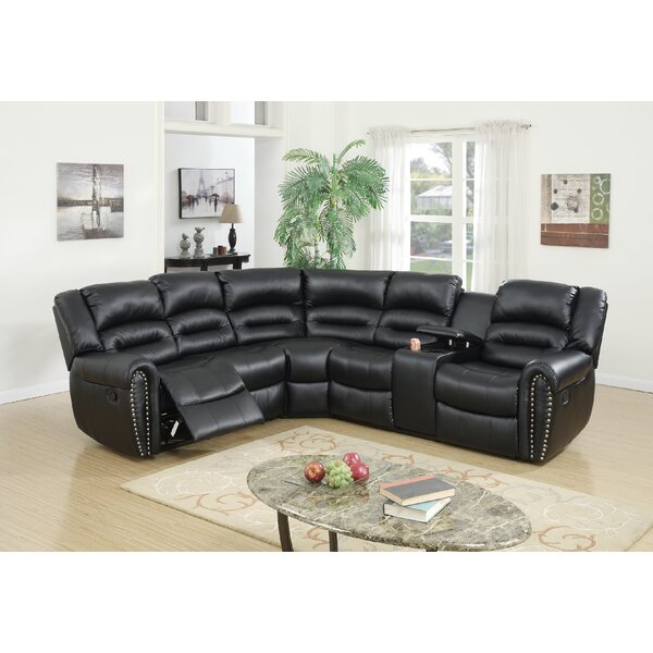 Premium Shop Finck Symmetrical Reclining Corner Sectional by Darby Home Co by Darby Home Co