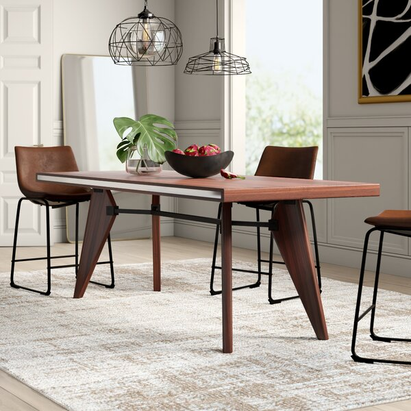 Mulkey Solid Wood Dining Table by Mercury Row