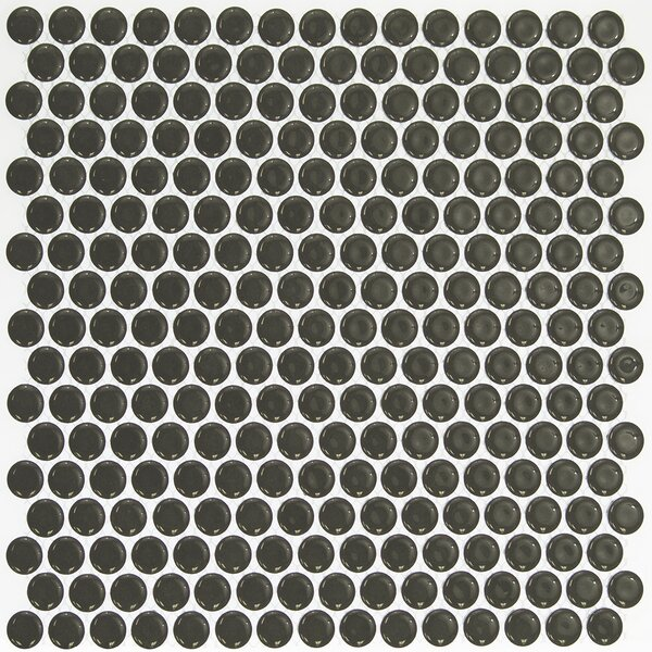 Bliss 0.75 x 0.75 Ceramic Mosaic Tile in Dark Gray by Splashback Tile