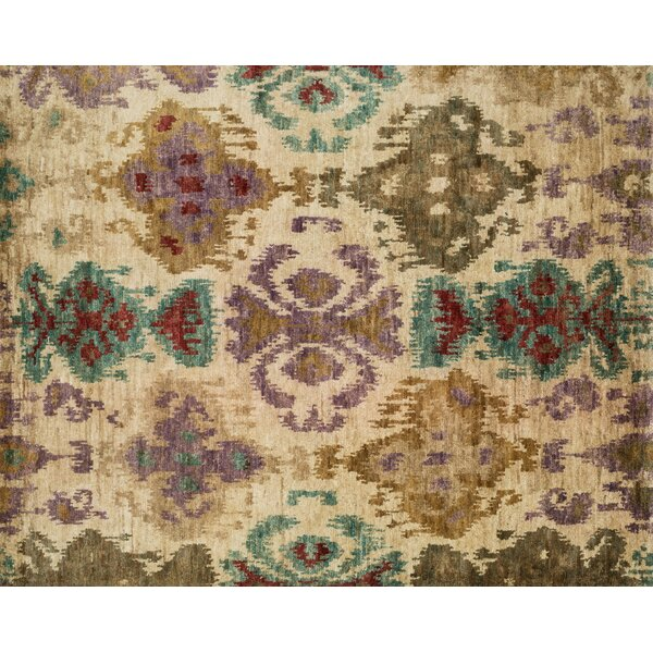 Zakrzewski Hand-Knotted Brown/Beige Area Rug by Bloomsbury Market