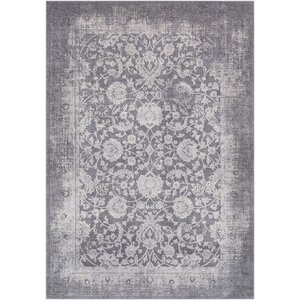 Tilleul Oriental Vintage Persian Distressed Gray Area Rug