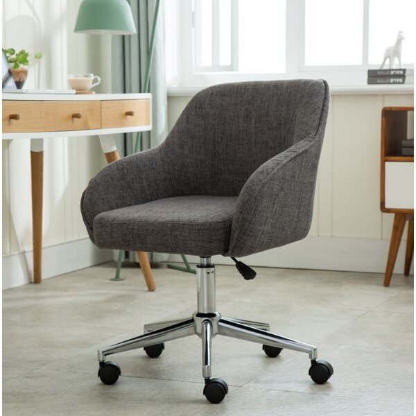 Seppich Adjustable Height Upholstered Swivel Office Chair by Ebern Designs