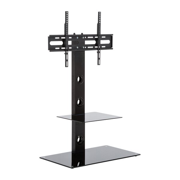 Houtz Glass Floor Stand Mount For TV's Up To 50