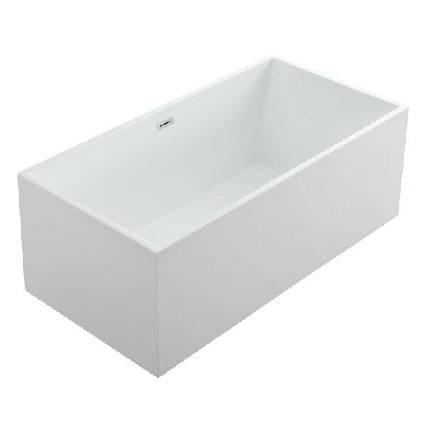 Aphrodite 60 x 30 Freestanding Soaking Bathtub by Eisen Home