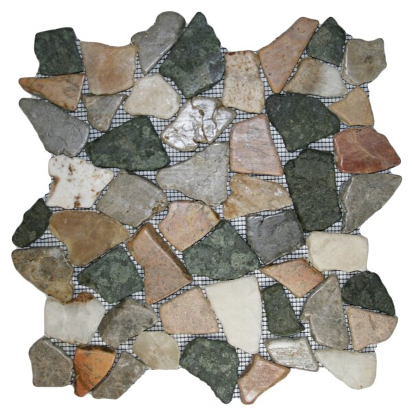 Wu Random Sized Natural Stone Mosaic Tile in Autumn by CNK Tile