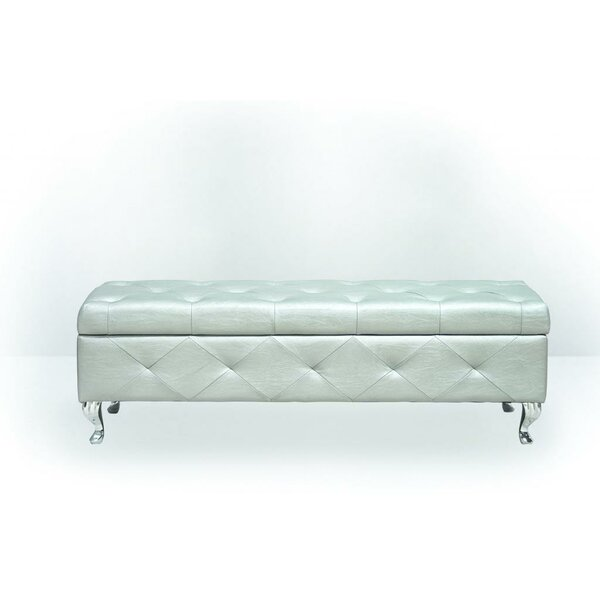 Upholstered Storage Bench by BestMasterFurniture