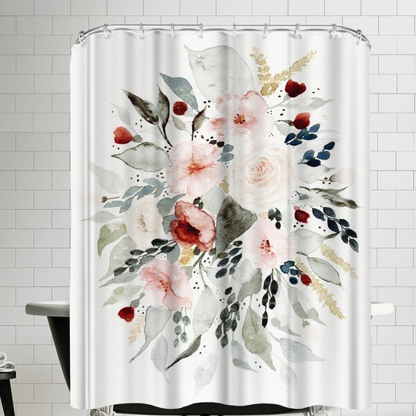 Loose Bouquet Shower Curtain by East Urban Home